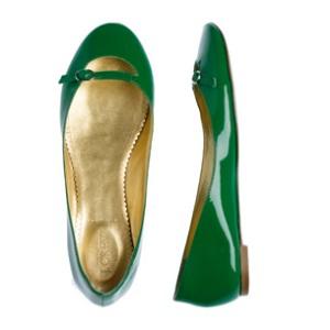 J Crew Liv Ballet Flat Green