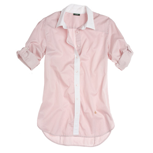 j Crew Striped 120\'s Kensington Shirt