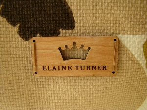 eFashion HOuse Elaine Turner Bag interior logo shot