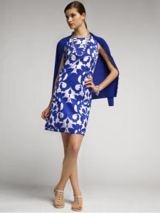 Banana Republic Monogram Blue White Dress