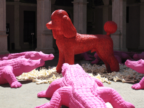 Pink Crocodiles & Poodle #1
