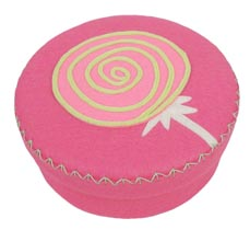 Hable Hot Pink Round Felt Box