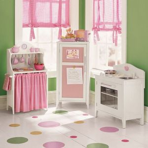 PB Kids Pink & White Kitchen