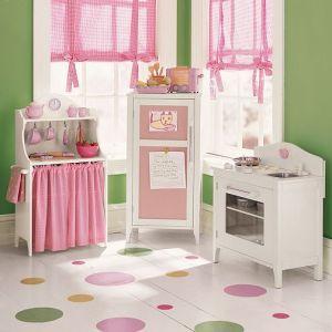 PB Kids Pink & White Kitchen