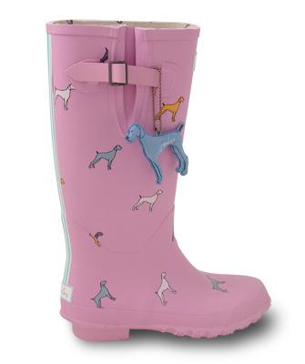 Wellington Joules Bon Bon pink boot