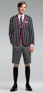 Brooks Brothers Thom Browne Silk Cotton Patch Pocket Jacket