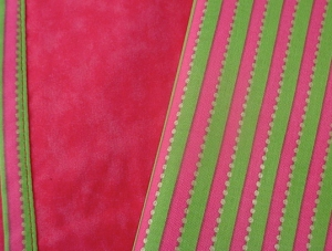 PreppyPrincess.com Pink/Green Stripe Napkins C/U