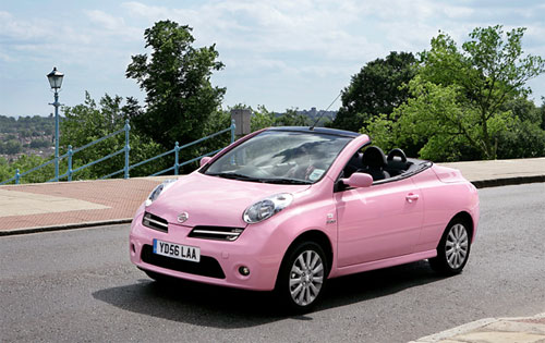 Pink Nissan Micran