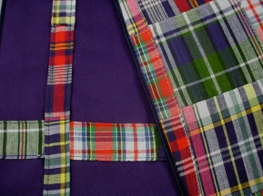 The Preppy Placemat, Navy Madras