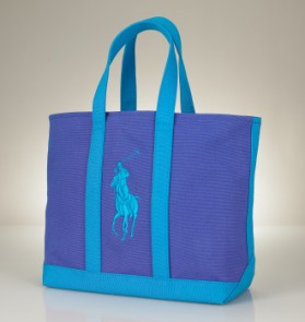 Ralph Lauren Polo tote in Baldwin Blue/Caribbean Blue