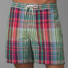 Polo Ralph Lauren Mens Madras Swim Trunks Bathing Suit Saks 5th Fifth Avenue