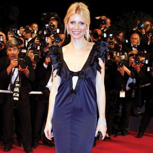 Gwyneth Paltwo Cannes Chanel Blue Gown