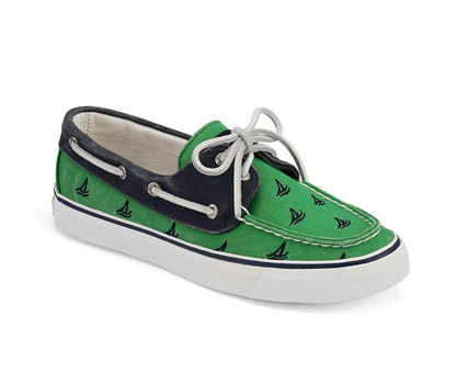 Preppy Shoes Sperry Topsiders Green