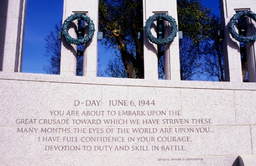 WWII Memorial D-Day Ike Quote