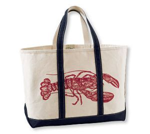 LL Bean Tidepool Lobster version Boat & Tote