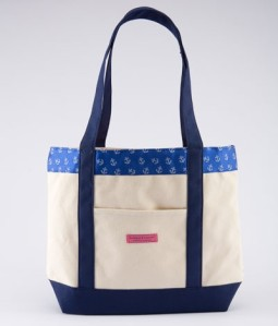 Vineyard Vines Anchors Woven Classic Tote