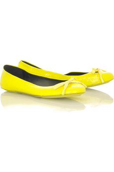 Marc Jacobs Patent Ballet Flats at Net a Porter