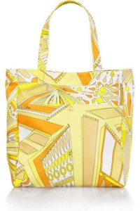 Emilio Pucci Sundial Canvas Beach Bag Tote