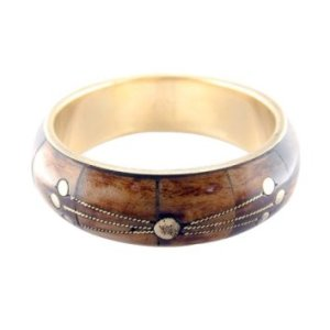 Horn & Brass Bangle bracelet Target
