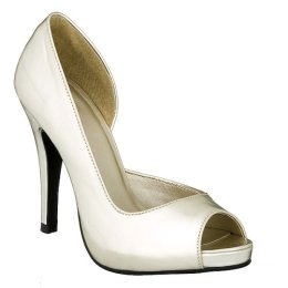 Mossimo Dulce Patent Peep Toe Pumps - Gold