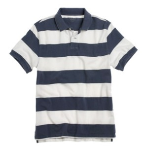 J Crew Men\'s Greenwich Striped Polo Shirt