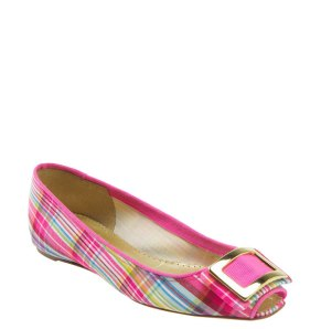 Bettye Mueller Peeptoe Madras flat at Nordstrom 40% off