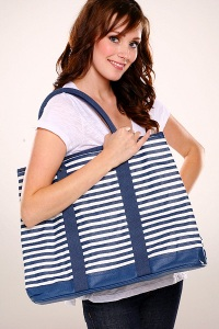 Rachel Palley Striped Beach Bag tote