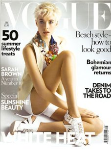 Agyness Deyn Cover of June Vogue British