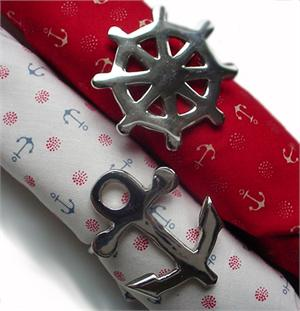 Anchor Wheel Napkin Rings at Preppy Princess.com