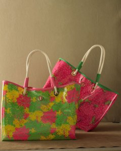 Horchow Collection Lilly Beach Bags