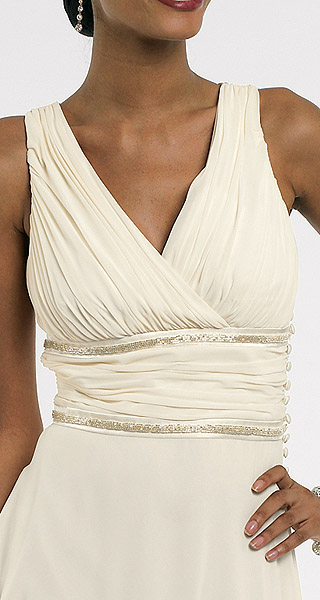 Barrrie Pace Ruched Silk Dress Detail inset