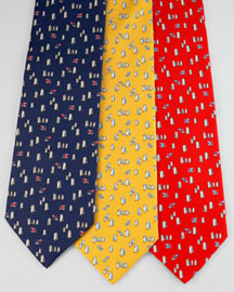 Men\'s Ferragamo Silk Ties at Neiman Marcus