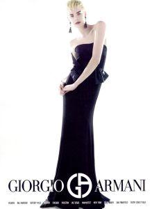 Agyness Deyn Armani Gown ad