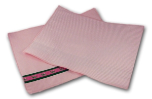 Preppy Princess Pink Seersucker Stripe Pod Placemats
