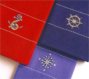 PreppyPrincess.com Seaside Kitchen Towels