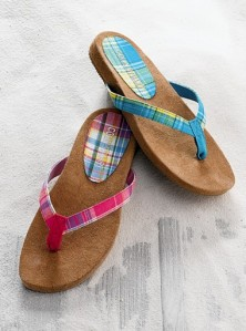 Victroia\'s Secret Madras Flip Flops