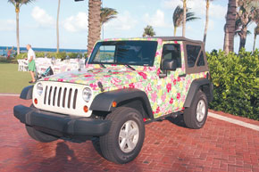 Lilly Pulitzer limited edition Jeep Wrangler.