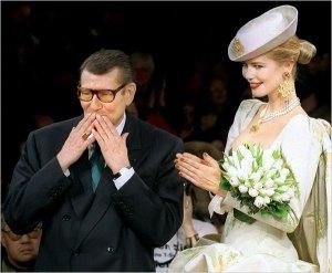Yves. St Laurent Obit Claudia Schiffer 1997 Wedding