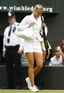 Maria Sharapova Nike Tuxedo Tennis Top