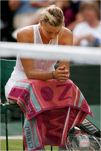 Wimbledon Day 4 Maria Looks Bummed