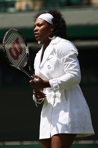 Serena Williams Trench Coat Wimbledon 6/24