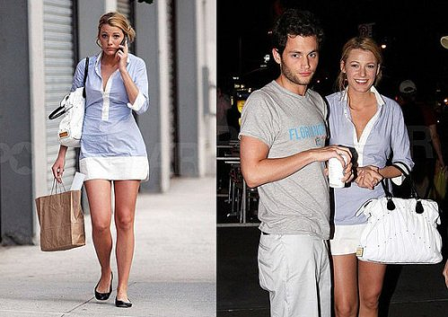 Blake lively Preppy Style Rag and Bone dress Gossip Girls
