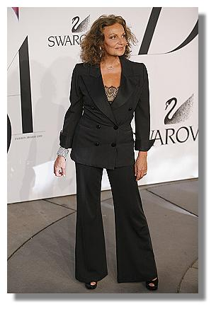Diane von Furstenberg at CFDA Awards in Vintage YSL Yves Saint Laurent