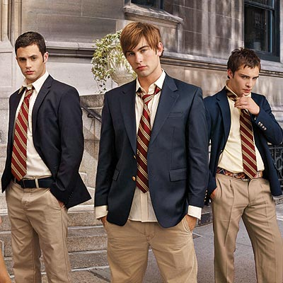 The stars of Gossip Girl  Penn Badgley, Ed Westwick and Chace Crawford