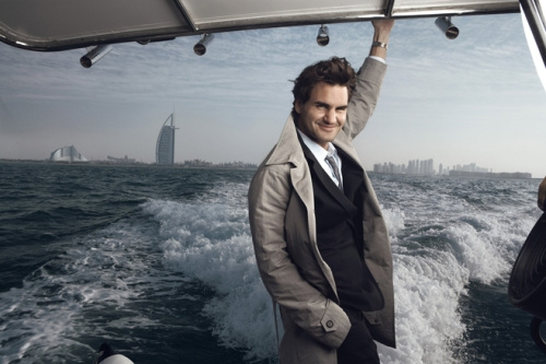 Roger Federer in Dubai, Annie Leibovitz photo