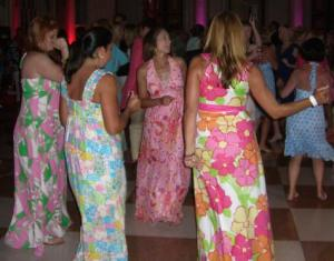 Guests at Breakers Lilly Pulitzer party