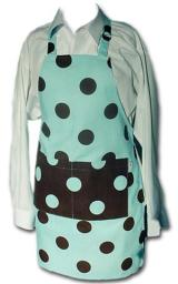 Me Too Apron Teal/Chocolate