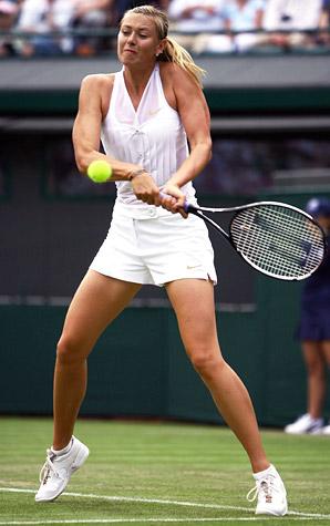 Maria Sharapova Wimbledon 08 tennis tuxedo