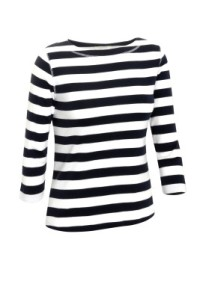 Chirstopher & banks Stripe Boat Neck Tee