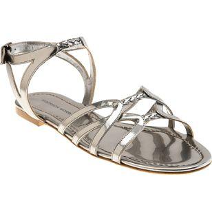 Sigerson Morrison Mirror Metallic Sandal